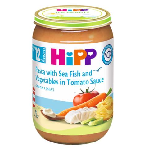 Makaronai jūr.žuv.brok., HIPP, 12 mėn., 220g