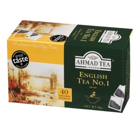 Melnā tēja Ahmad Tea English Nr.1 40x2g