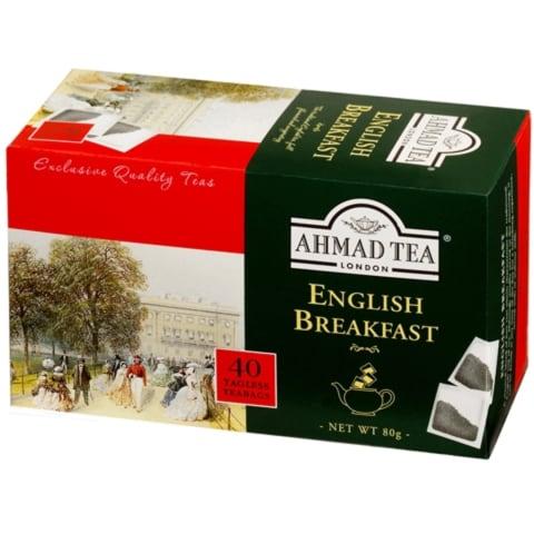 Melnā tēja Ahmad English Breakfast 40x2g