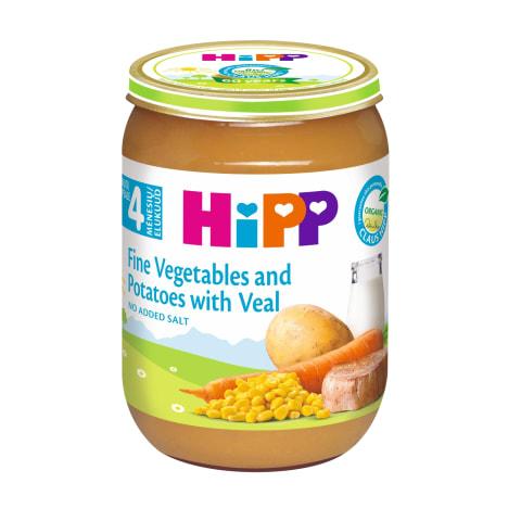 Biezenis Hipp ar teļa gaļu dārzeņiem BIO 190g