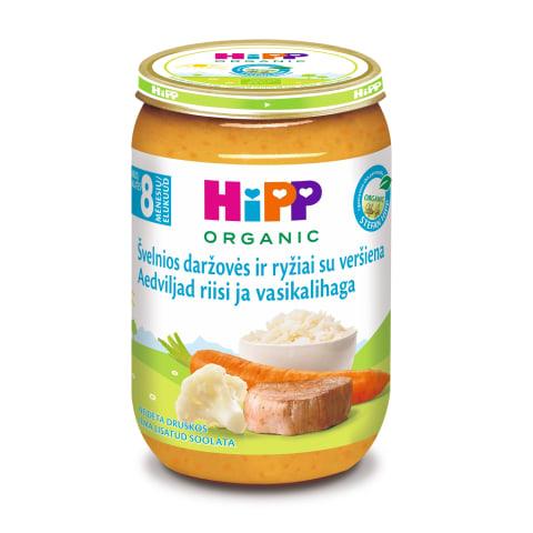 Püree Hipp juurvilja-vasikaliha 8k 220g
