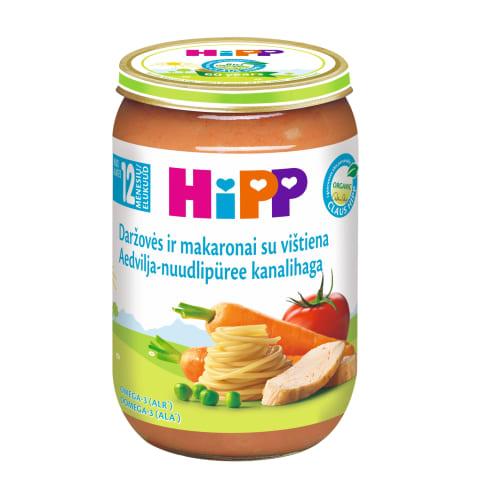 Biezenis Hipp ar vistu dārz. nūd. BIO 220g