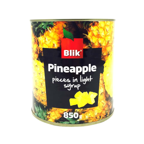 Ananassitükid kerges siirupis Blik 850g