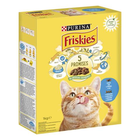 Sausas kačių ėdalas su lašiša FRISKIES, 1kg