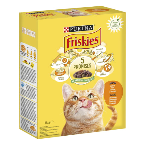 Kaķu barība Friskies gaļas aknu 1kg