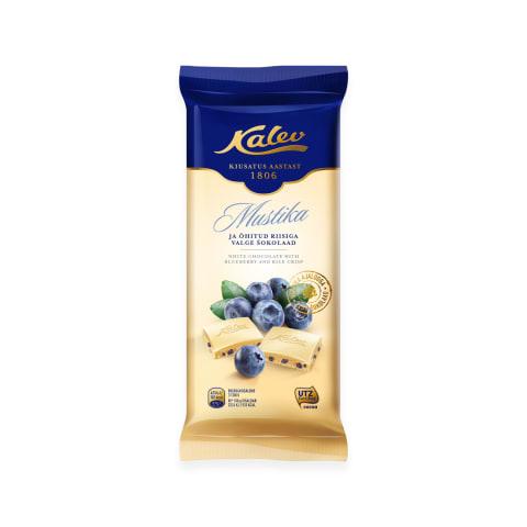 Baltā šokolāde Kalev ar melleņu gabal. 95g