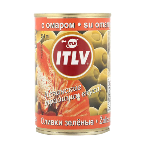 Zaļās olīvas ITLV ar omāru pastu 300g/110g