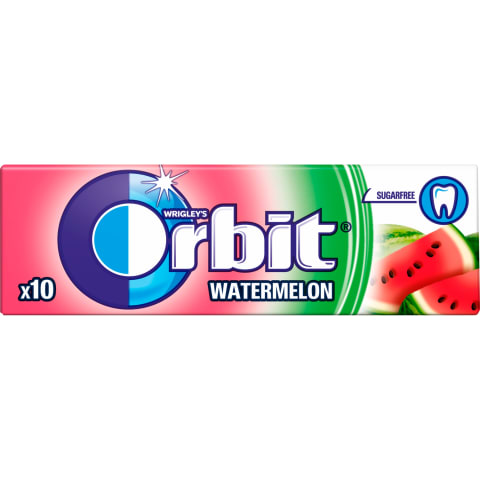 Košļājamā gumija Orbit arbūzu bez cukura 14g