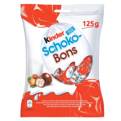 Saldainiai su įdaru KINDER SCHOKO BONS, 125g