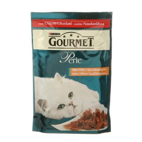 Kons. kaķiem Gourmet perle liellopu 85g