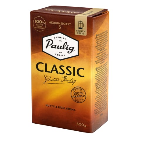 Kohv jahvatat. presskannu Paulig Classic 500g