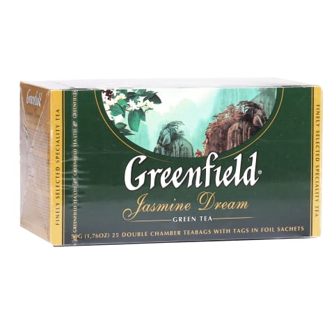 Žal. arbata GREENFIELD JASMIN DREAM, 25 pak.