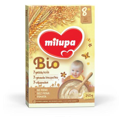 MILUPA BIO 7-grūdų košė 8m. 250g.