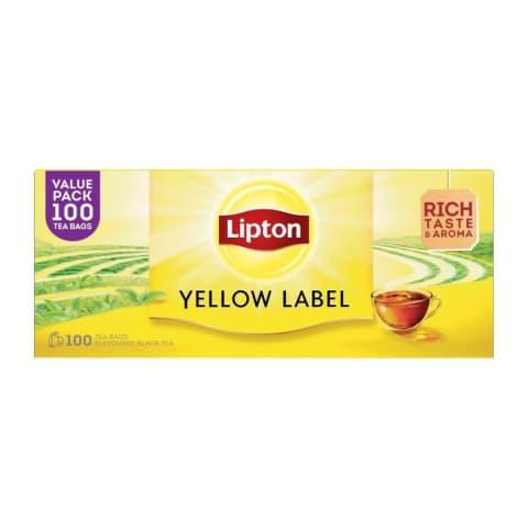 Juodoji arbata LIPTON YELLOW LABEL, 100 vnt.
