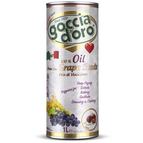 Viinamarjaseemneõli goccio d'Oro 1l
