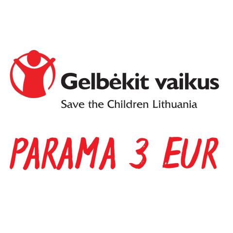"""3 Eur parama """"Gelbėkit vaikus"""""""