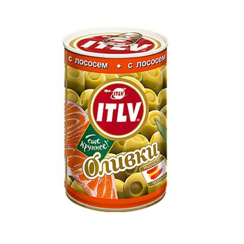 Zaļās olīvas ITLV ar laša pastu 314ml