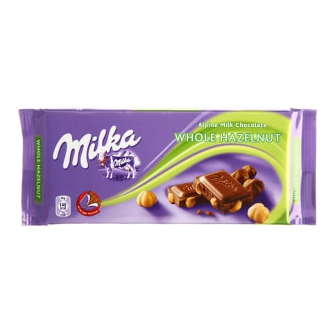 Šokoladas MILKA WHOLENUT, 100g