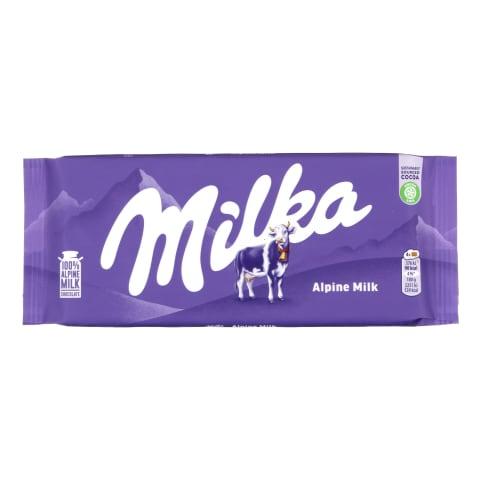 Piena šokolāde Milka Alpine 100g