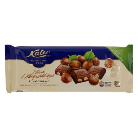 Piimašokolaad tervete pähklitega Kalev 200g