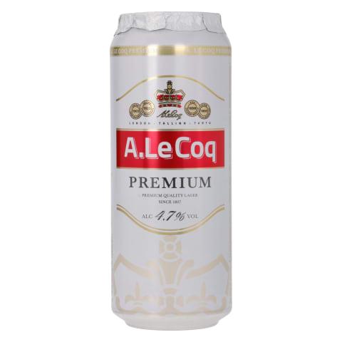 Õlu A.Le Coq Premium 4,7%vol 0,5l prk