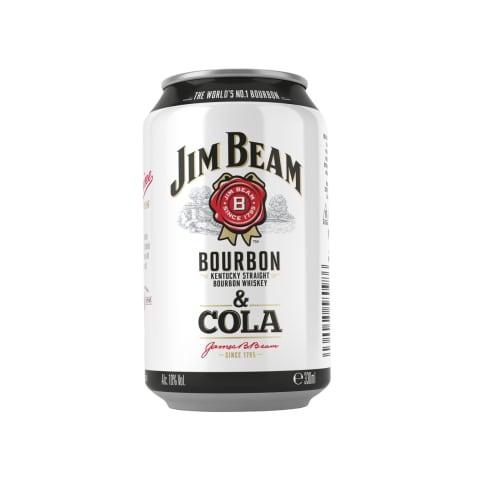 Alk.kokt.JIM BEAM&COLA, 4,5 %, 0,33 l sk.