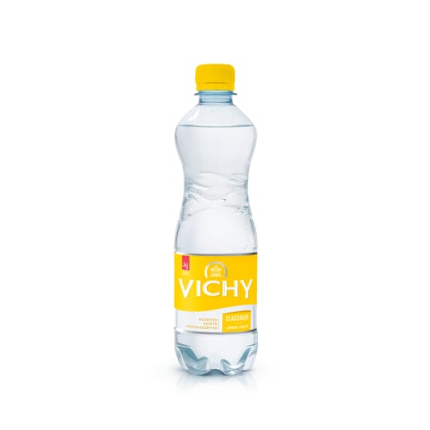 Ūdens Vichy Classique Lemon gāzēts 0,5l