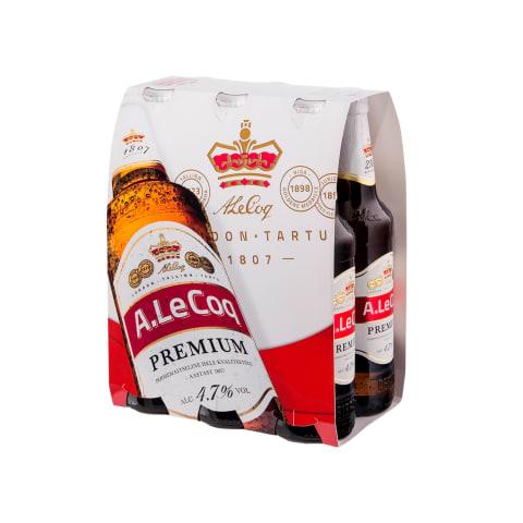 Õlu A.Le Coq Premium 4,7% 0,5l pdl 6-pakk