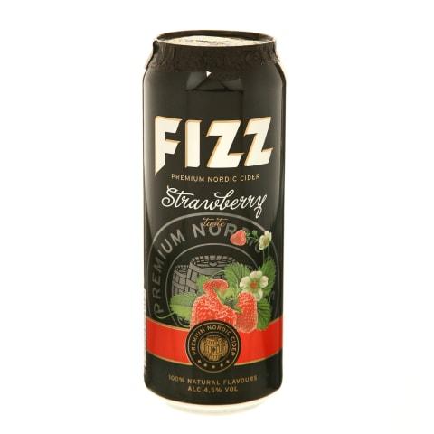 Gaz.braškių skonio sidras FIZZ, 4,5 %, 0,5 l