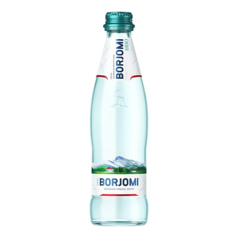 Gāzēts dab. minerālūdens Borjomi 0,33l