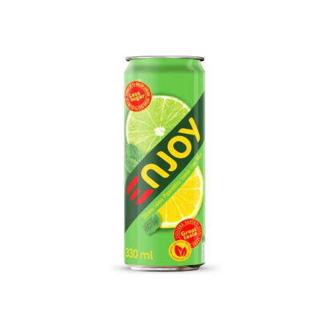 Gāz.dz.Njoy citronu-laima 0,33L
