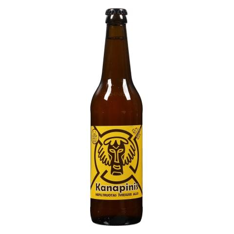 Nefiltr.švies.KANAPINIS alus, 5,1 %, 0,5 l