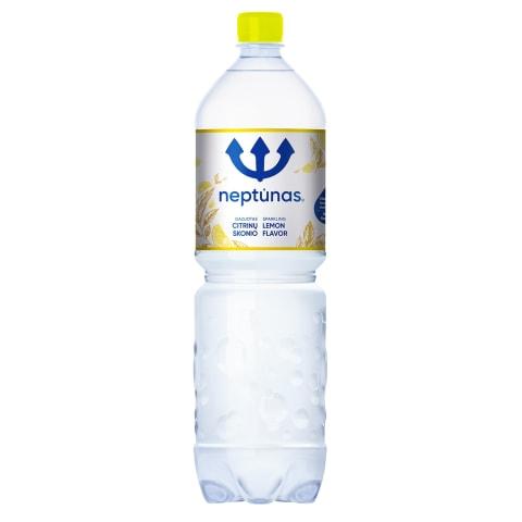 Švelniai gazuotas vanduo NEPTŪNAS LEMON, 1,5l