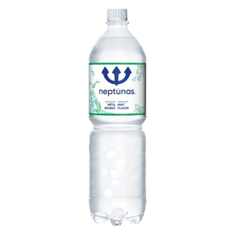 Švelniai gazuotas vanduo NEPTŪNAS MINT, 1,5l