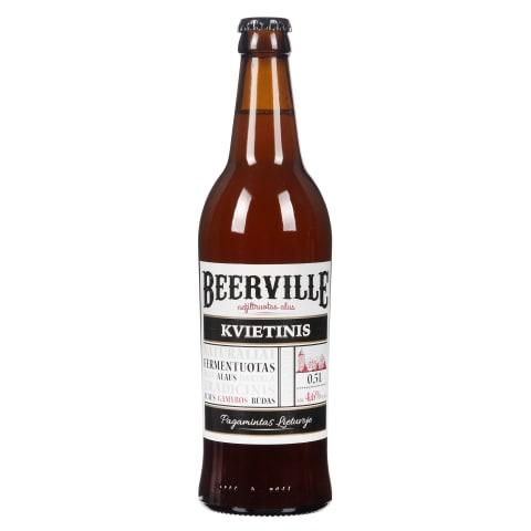 Kvietinis alus BEERVILLE 4,6 %, 0,5 l