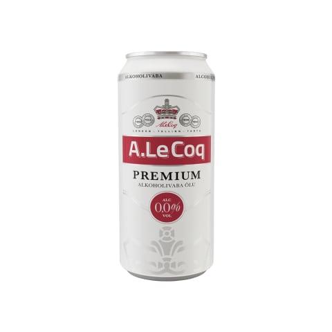 Alk.vaba õlu A.Le Coq Premium 0,5l prk