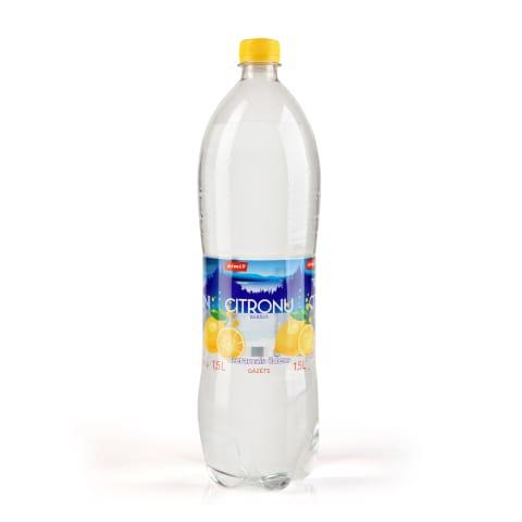 Dzer. ūdens Rimi ar citronu garšu,gāz. 1,5l