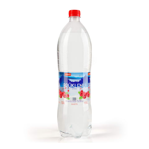 Dz. ūdens Rimi ar brūkleņu garšu gāzēts 1,5l