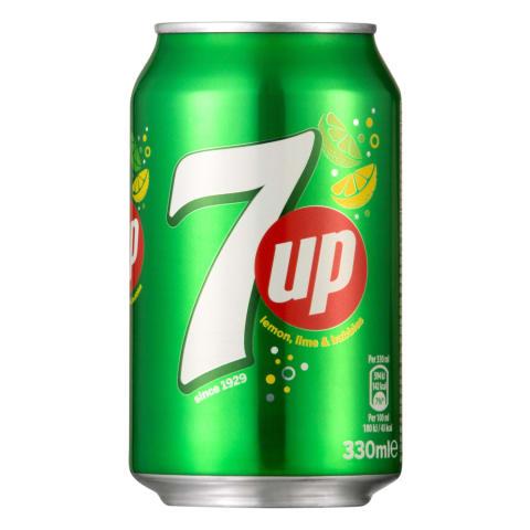 Gāz.dzēriens  7UP 0,33L bun.