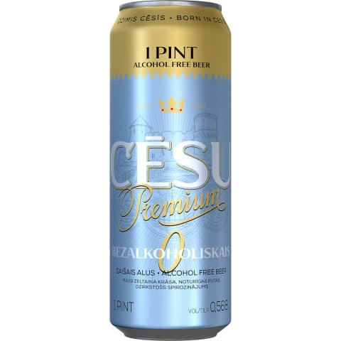 Alus Cēsu Premium bezalkoholisks 0,568l