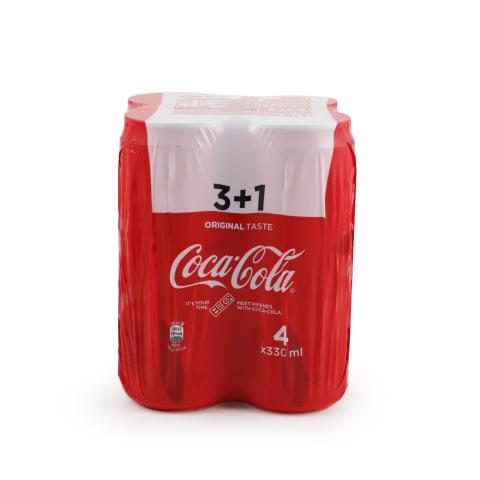 Gāzēts dzēriens Coca-Cola Sleek 4-paka