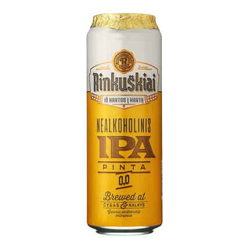 Nealkoholinis alus RINKUŠKIAI IPA, 0,568 l