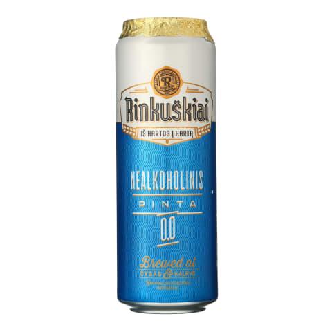 Nealkoholinis alus RINKUŠKIAI, 0,0%, 0,568 l