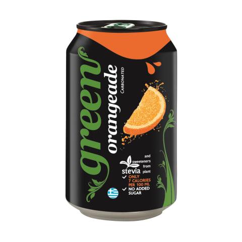 Dzēriens Green Orange gāzēts 0,33l