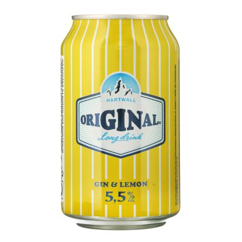 Alk.kokt.HARTWAL.GIN&LEMON, 5,5 %, 0,33 l sk.