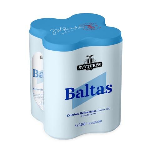 ŠVYTURIO Baltas alus, 5 %, 4 x 0,568 l sk.