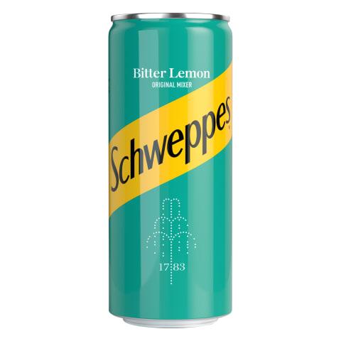Gāzēts dzēriens Schweppes Bitter Lemon 0,33l