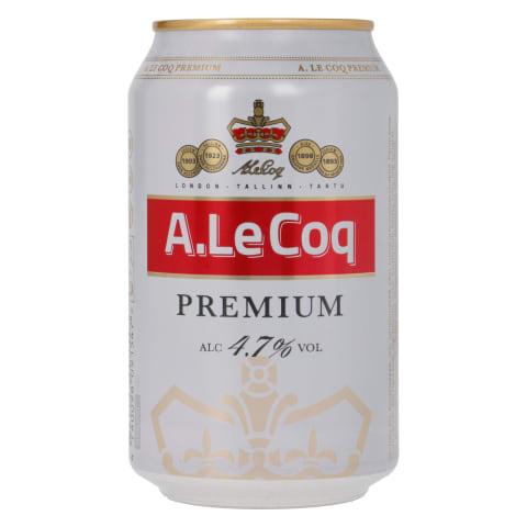 Õlu A. Le Coq Premium 4,7%vol 0,33l purk