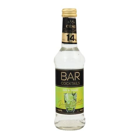 Alko. kokteilis Cēsu Bar Gin&Toni 14% 0,275l