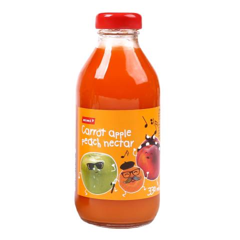Nektārs Rimi burkānu,ābolu,persiku 0,33l